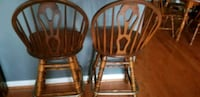 two brown wooden windsor chairs Boyds, 20841