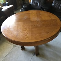 Round brown wooden dinette table / game table Sarasota, 34232