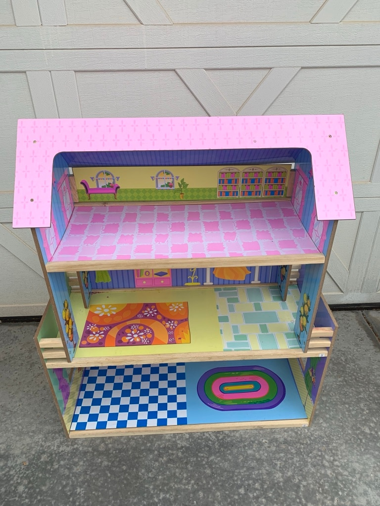 pink and white wooden dollhouse for sale  Mesa