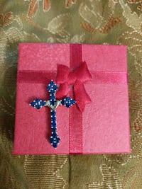 Sapphire Sterling Silver/Gold Cross Arnold, 21012