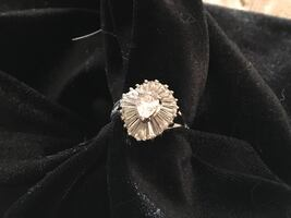 925 CZ cocktail ring