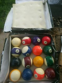 assorted color bowling balls in box Citrus Heights, 95610
