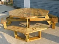 brown wooden table with bench Lorain