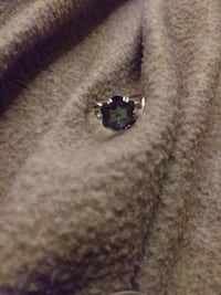 Woman's silver ring with colored stone