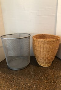 Set of 2 small trash cans $5 for both Manassas