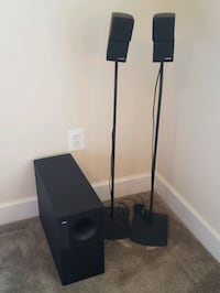 BOSE Double Cube Speakers with Stands and Subwoofe Gainesville, 20155