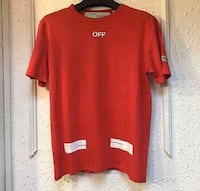 Red Off White tee Pickering, L1W
