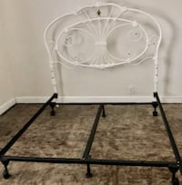 Queen Iron Headboard & Frame