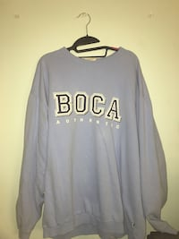 Large light blue boca hoodie