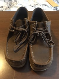 Brown leather Clarks wallabee's women's size 8.5 Richmond, 23219