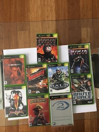 9 X-box games. $5 each. $20 for all 9 games Sterling, 20164
