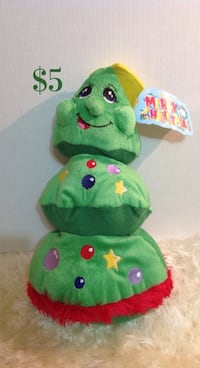 Christmas tree plush toy: new with tags