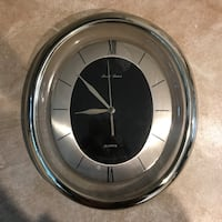 Silver oval wall clock Springfield, 22150