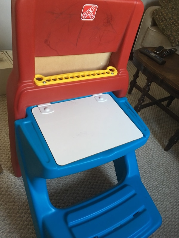 Blue White And Red Step 2 Plastic Activity Table