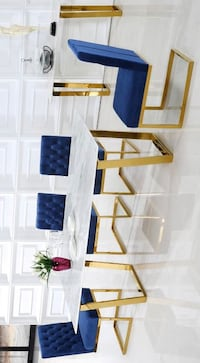 Cameron Gold/Navy Dining Set Houston, 77080