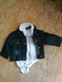 Wrangler Onsie Shirt & Denim Jacket Set DeQuincy, 70633