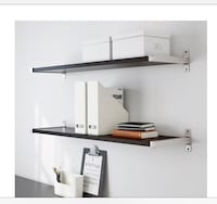 White 2 wooden shelves with aluminum brackets Laurel, 20708