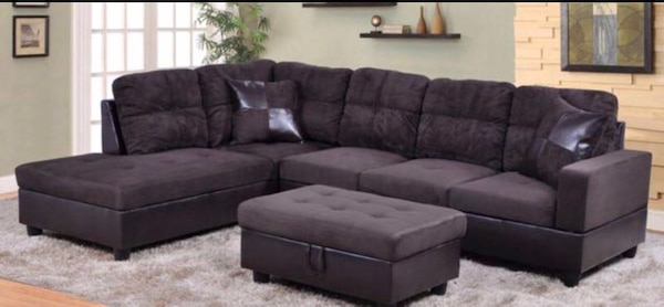 Fine Brand New Sectional Couch With Storage Ottoman Espresso Alphanode Cool Chair Designs And Ideas Alphanodeonline