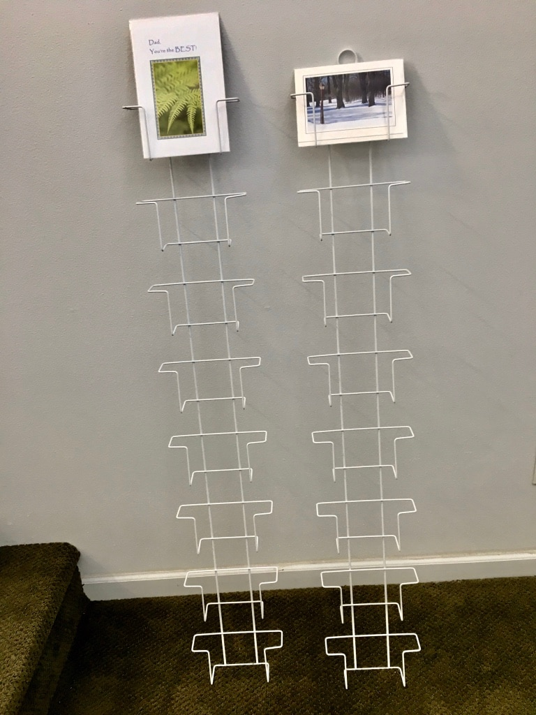 Photo Pair of Hanging Display Racks for Cards