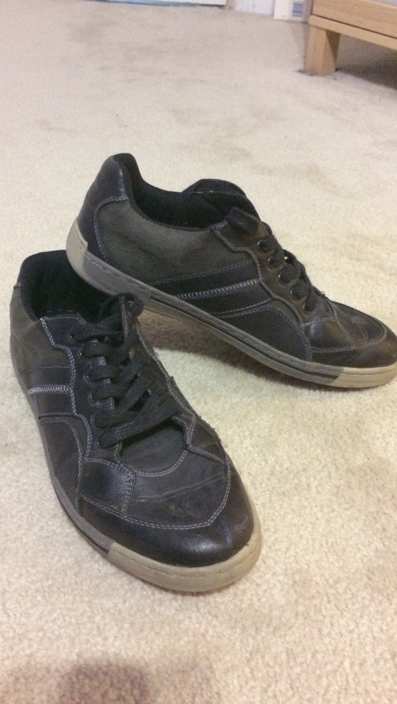 Leather low tops (size 10)