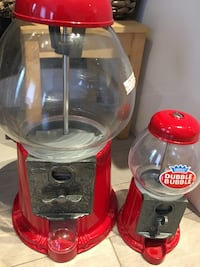 Vintage Dubble Bubble gum ball dispenser  Glass material. One big and small size Markham, L3R 5X7
