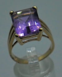 14KT YELLOW GOLD RING SIZE 9 ;7.9 GRAMS WITH AMETHYST STONE PRE OWNED. VERY GOOD CONDITION. # 851570-1 Baltimore, 21205