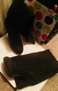 Black suede over the knee boots Fairfax, 22031