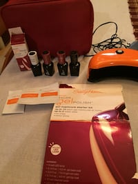Sally Hanson Gel manicure kit with 4 polishs included
