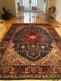 Tabriz hunting wool rug Levittown, 11756
