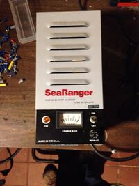 White and black searanger battery charger