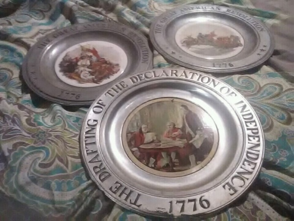 Antique collector plates made of pueter