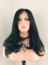 Very Pretty Lace Front Black Wig for Everyday