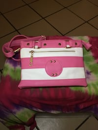 pink and white leather crossbody bag Bridgeport, 06608