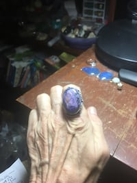 Stamped 925 charoite stone ring. Size 7 Lexington, 40517