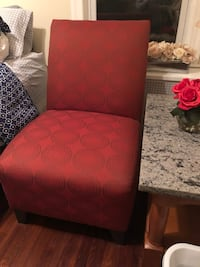 red and black floral padded chair Frederick, 21702