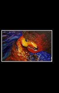 "Custom painting set of 3 ""wild horse "" painting  Toronto, M3K"