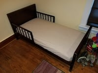 Espresso Toddler Bed w/Mattress