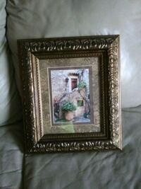 rectangular brown wooden photo frame