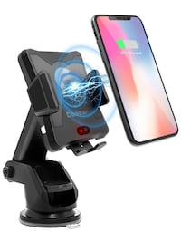 Coobar Wireless Car Charger,Qi Motor Automatic Infrared Sensor Qi Wireless Charger Car Mount, One-Touch Phone Holder Compatible Samsung Galaxy S8/S7/S7 Edge Note 8 & 5W for iPhone X/8/8 Plus & ALL Qi-Enable phones Manteca