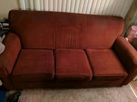 Red Three Seater Couch