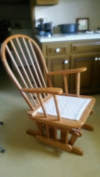 Solid Oak Glider Rocking Chair Oklahoma City