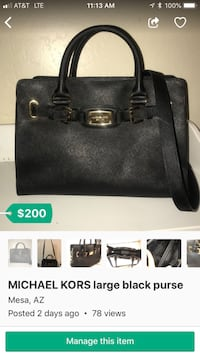 black leather Michael Kors tote bag screenshot Mesa, 85209