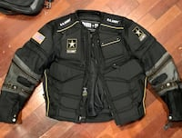 Fully padded motorcycle jacket with 'ARMY' decals sz med Philadelphia, 19102