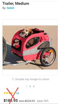 HoundAbout bicycle trailer . Med