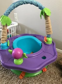 purple and green Summer Infant SuperSeat