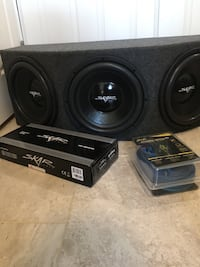 "(NEVER USED) Triple 12"" Sub box with wiring kit and amp Silver Spring, 20910"