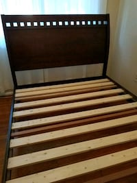 brown and black wooden bed frame Silver Spring, 20910