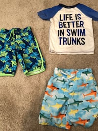 5T swim shirt & shorts