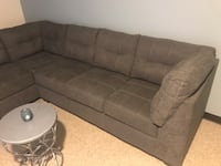 Tufted gray fabric sectional sofa New York, 10460