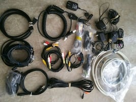 USB Cords,Adappters,Speaker wires,Coax cables, etc.Prices vary .Call G